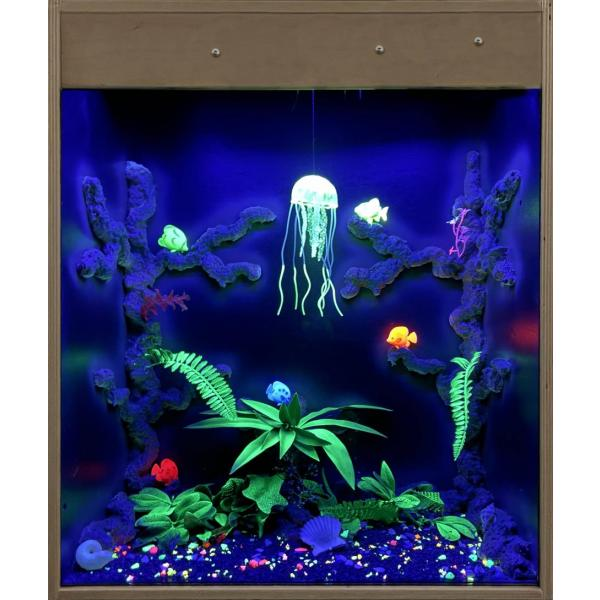 Blacklight UV aquarium