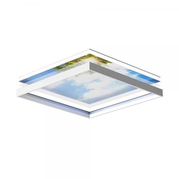 LED plafondpanelen 60 x 60 cm - set van 4