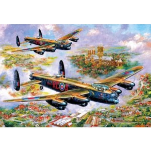 Grote puzzel -  Lancasters over Lincoln (500 stukjes)